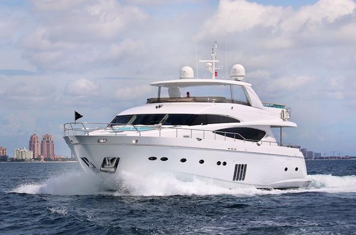 Crewed Motor Yacht Cristobal Princess 95 4 Cabins Bahamas