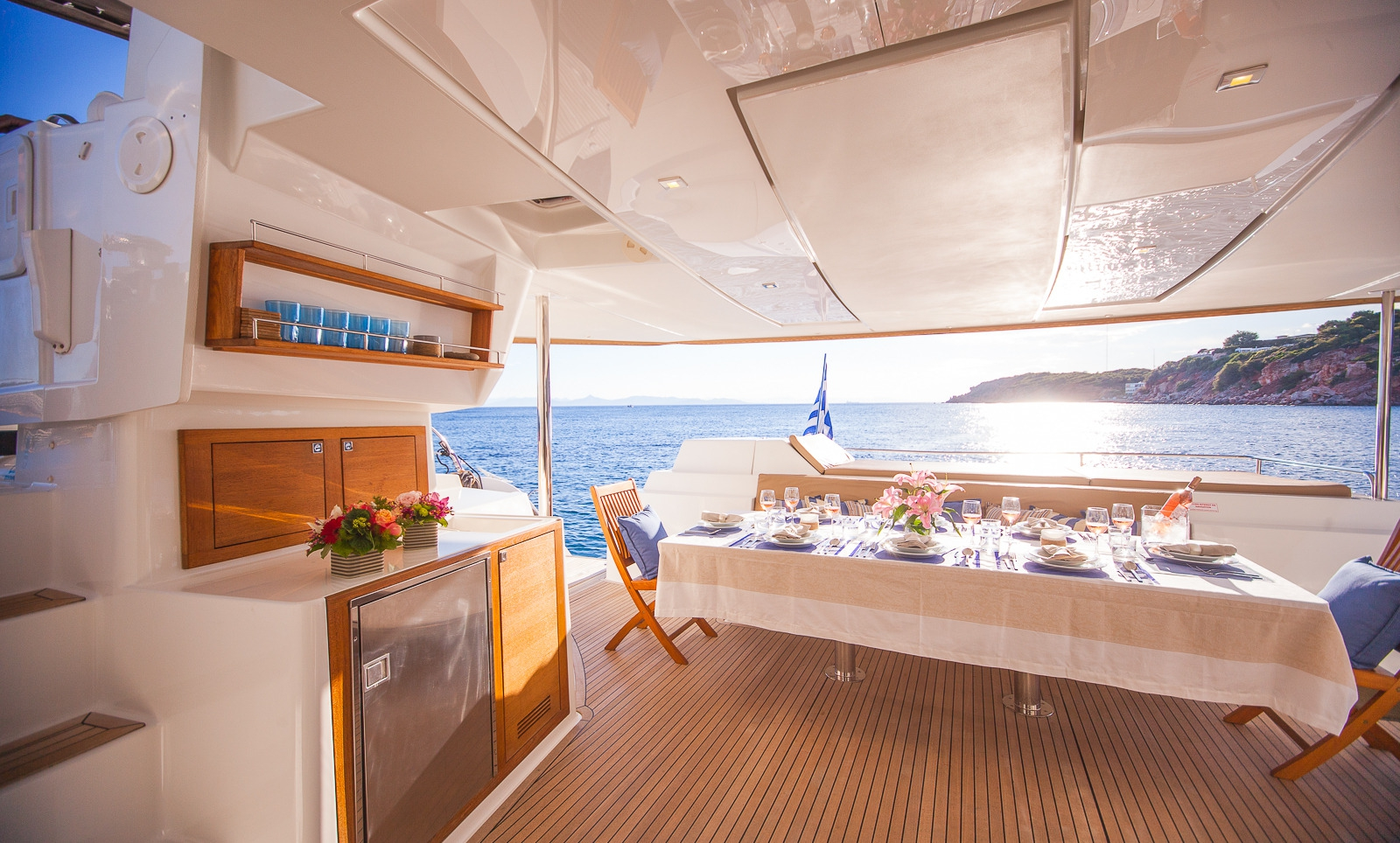 Highjinks II Sanya 57 Catamaran Aft Deck