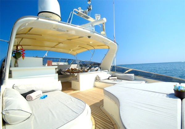Luxury Crewed Motor Yacht DIVERSION - Baia Panther 80 - 3 Cabins - Cannes ...