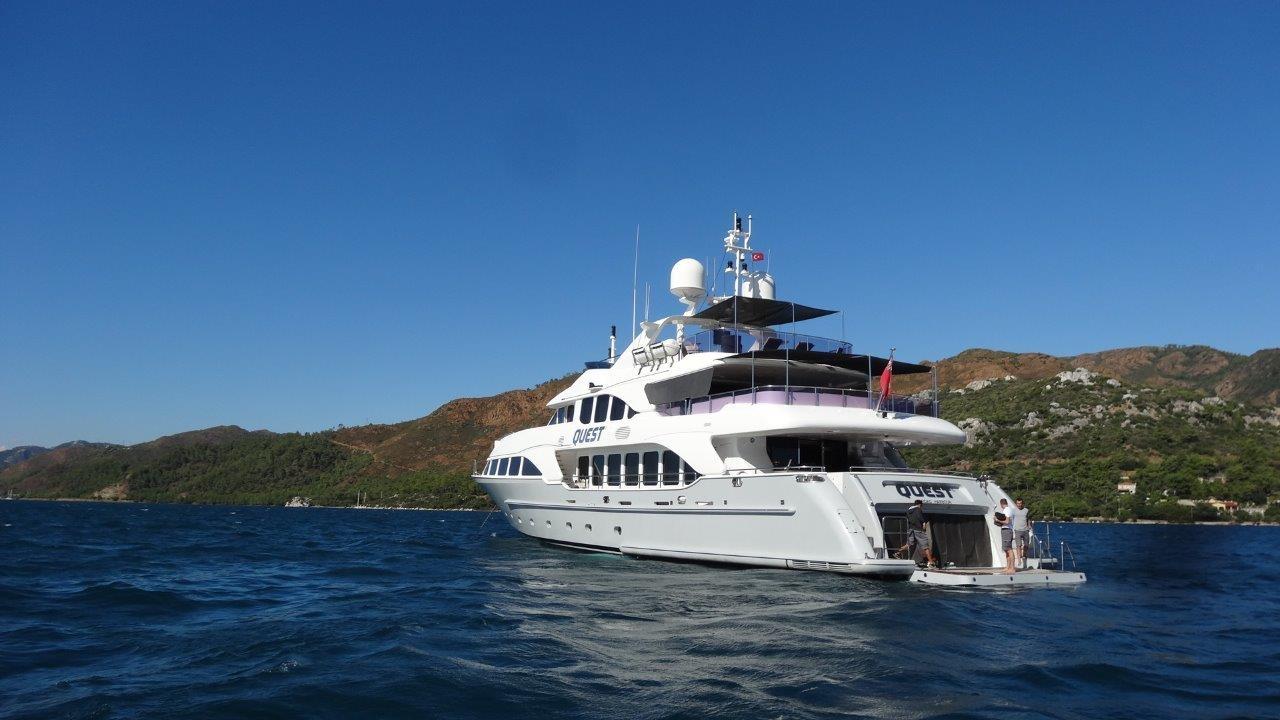 Charter Yacht QUEST R | Benetti 37m | 5 Cabins | Tivat | Budva | Dubrovnik | Split | Hvar | Sibenik